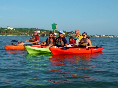 Kayak with the family, St Augustine